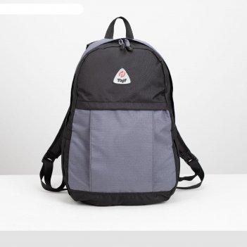 Рюкзак туристический, 28 л, отдел на молнии, наружный карман, цвет чёрный/