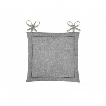 Подушка на стул, размер 40 x 40 см, рогожка, цвет базальт