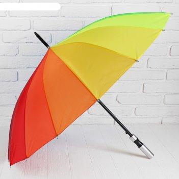 Зонт-трость полуавтомат радуга, 16 спиц