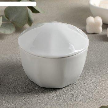 Сахарница с крышкой 170 мл, цвет белый lebon