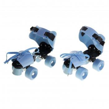 Ролики для обуви раздвижные, размер 19-25 см, колеса рvc d = 50 мм, цвет г