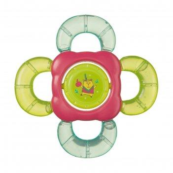 Прорезыватель-погремушка happy baby c водой teether rattle
