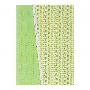 Бумага для творчества цветы и горошек а4 плотность 80 гр