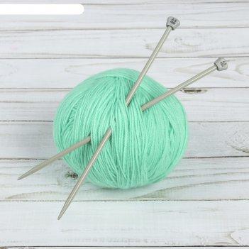 Спицы для вязания, прямые, с тефлоновым покрытием, d = 4,5 мм, 20 см, 2 шт