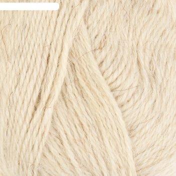 Пряжа околица 90% шерсть, 10% акрил 250м/100гр (205 белый)