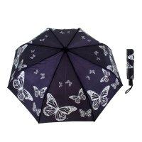 Зонт женский flioraj под звуки вальса, бабочки, 3 сложения, суперавтомат,