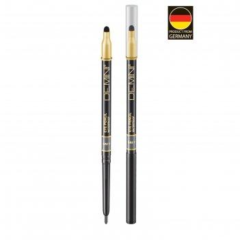 Карандаш для глаз с аппликатором demini waterproof eye pencil, № 102 серый