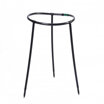 Кустодержатель пластиковый d=48 см, h=70 см, ножка d=2 см, черный роза