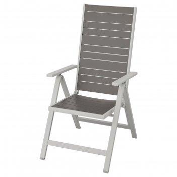 Кресло шэлланд, регулируемая спинка, складное, темно-серый