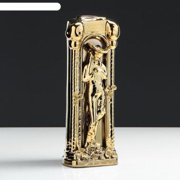 Ваза настольная колонна мадонна, покрытие булат, 34 см