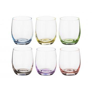 Набор стаканов для виски из 6 шт. rainbow 300 мл высота=9 см (кор=8набор.)