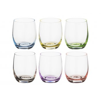 Набор стаканов для виски из 6 шт. rainbow 300 мл...