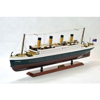Модель корабля титаник, 80x30x9,5см