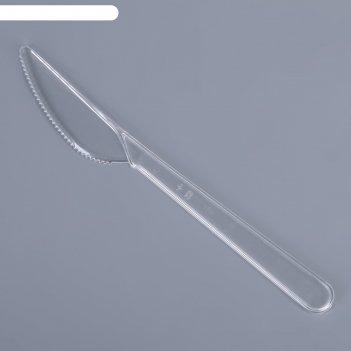 Нож 18 см преимум, набор 10 шт, цвет прозрачный, 1/100/ уп.