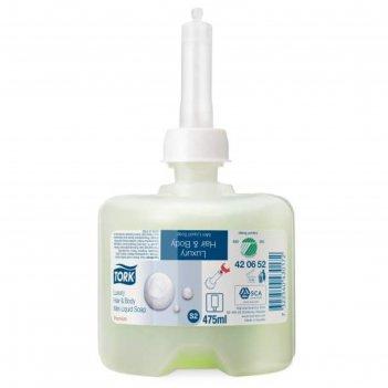 Жидкое мыло-шампунь tork, для тела и волос, 475 мл