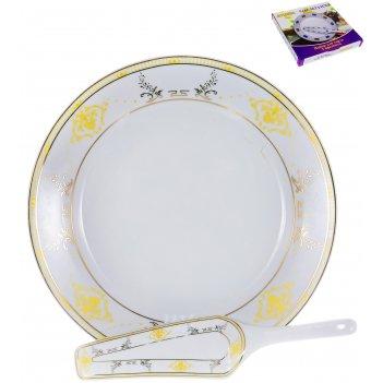 Набор для торта аврора «сирма» 30 см, 2 предмета