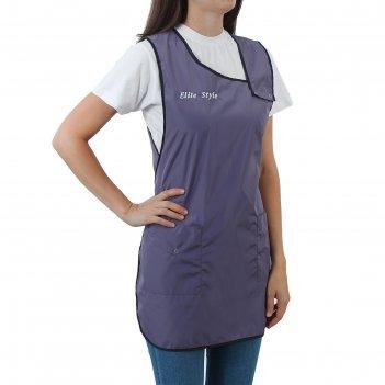 Фартук парикмахерский ольга серо-фиолетовый f-10