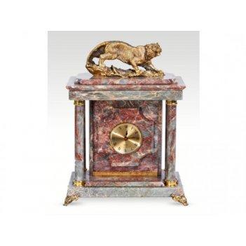 Часы-сейф из мраморатигр(арт.с-036)
