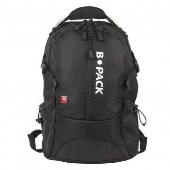 Рюкзак школьный эргоном.спинка b-pack 47*31*16, 2 отд s-02, черный 226948