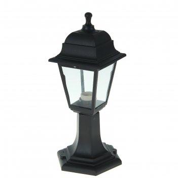 Светильник садово-парковый нту 04-60-001, четырехгранник, стойка, черный