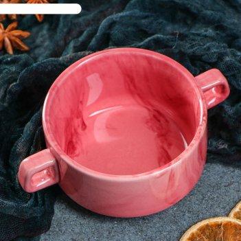 Бульонница 0,32 л радуга розовая