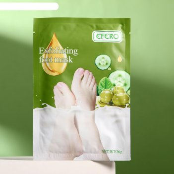 Отшелушивающая маска-носки для ног на основе экстракта оливы, универсальны