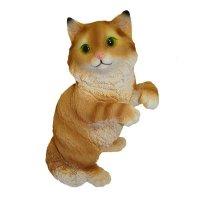 Фигура декоративная садовая кот игривый l21w20h32 см