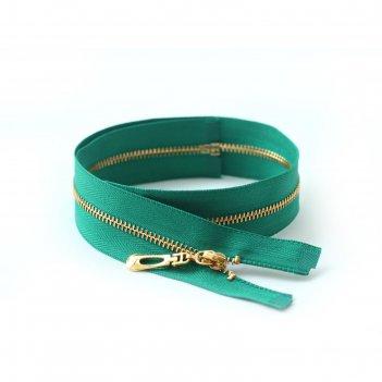 Молния для одежды, №5, 50 см, цвет зелёный 258