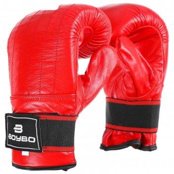 Перчатки снарядные boybo красные (m)