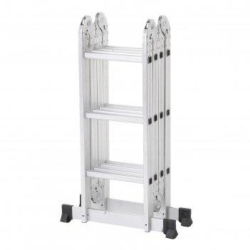 Лестница алюминиевая шарнирная 4х3 ступени tundra comfort