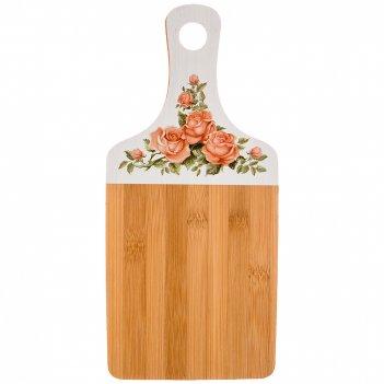 Доска разделочная корейская роза agness 35*16*0,9 см бамбук