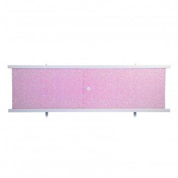 Экран под ванну кварт розовый иней, 168 см