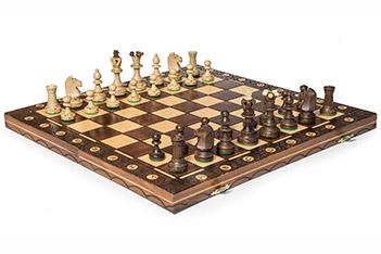 Шахматы подарочные большие сенатор 42х42см