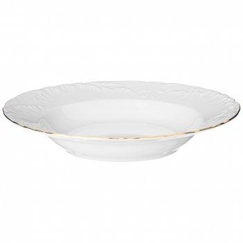 Тарелка рококо золотая линия суповая  22,5 см мал.уп. 6шт без упак