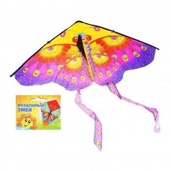 Воздушный змей бабочка с усиками с леской