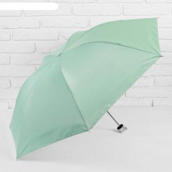 Зонт механический, ветроустойчивый, в футляре, внутри металлик, цвет салат