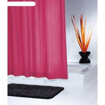 Штора для ванной комнаты madison, цвет красный 180х200 см
