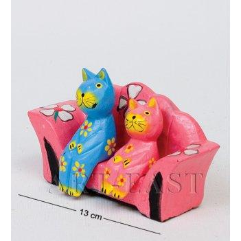 28-026 статуэтка mini кошки на диване в асс.