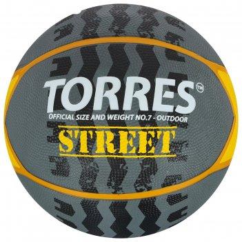 Мяч баск. torres street арт.b02417, р.7, 7 панел.резина, нейлон.корд, бут.