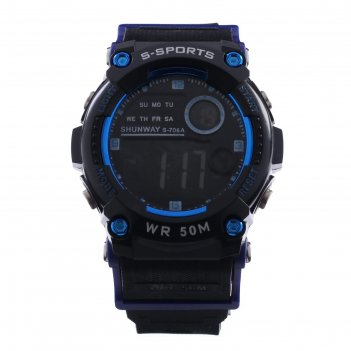 Часы наручные электронные shunway s-706a, d=4.5 см, синие