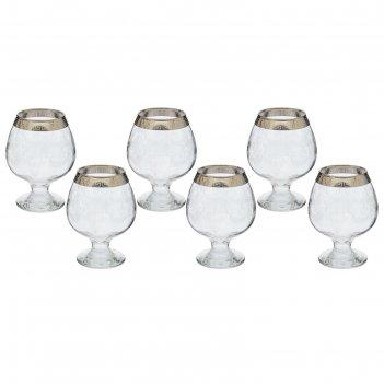 Набор бокалов для коньяка 400 мл алмазная грань, 6 шт