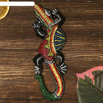 Панно настенное дерево геккон цветной 20х6х1 см