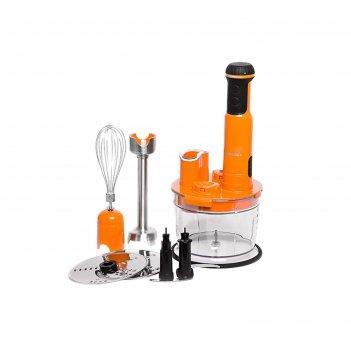 Блендер oursson hb6040/or, погружной, 600 вт, 13 уровней мощности, оранжев