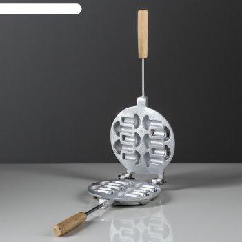 Форма для выпечки печенья грибочки, с деревянными ручками
