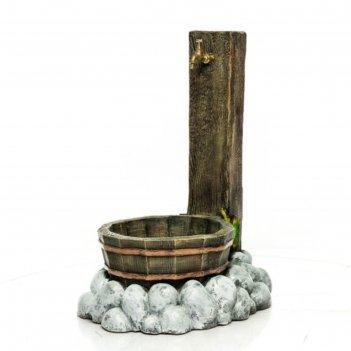 Умывальник с деревянной кадкой
