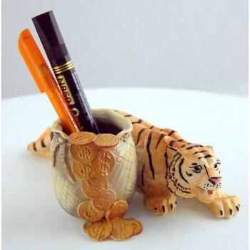 С252 сувенир  «карандашница тигр»