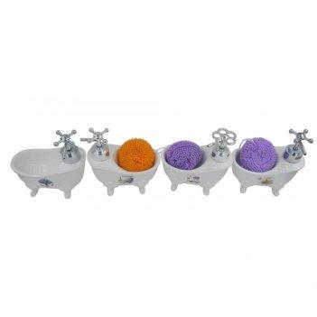 Дозатор для мыла с губкой, l14w8h14см, 4в