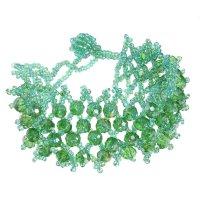 Браслет из бисера плетение бусины, цвет, цвет зелёный