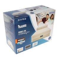 Кровать надувная essence fortech queen 229 x152x79 см, со спинкой, встроен