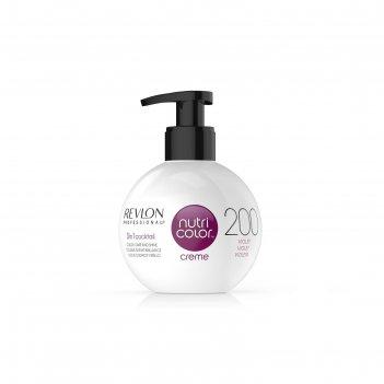 Крем-маска для тонирования волос revlon professional nutri color, тон 200